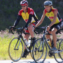 Cyclists in B4B event