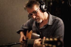 Steve Bell in the studio